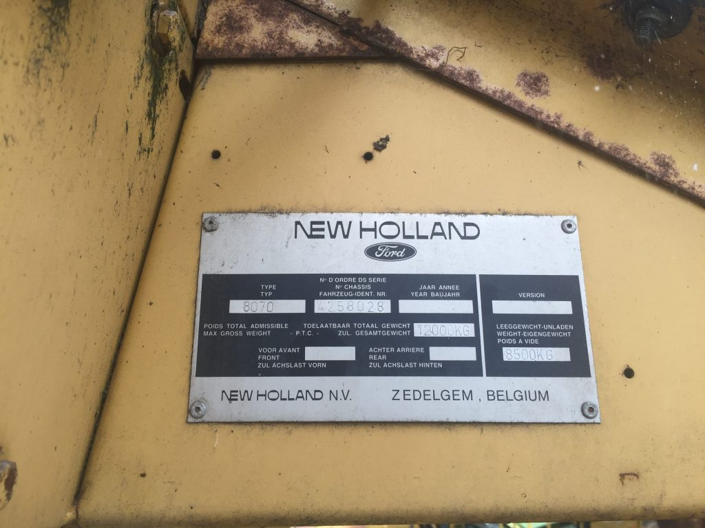 New Holland Serial Number