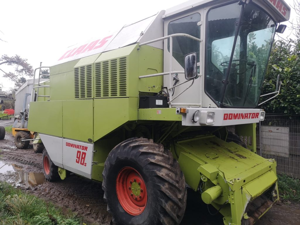 Near side photo of combine