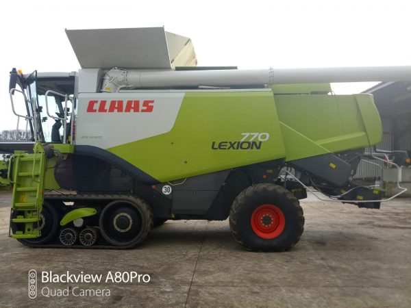 Side view of Lexion 770